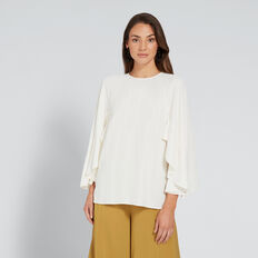 Ruffle Sleeve Blouse  CLOUD CREAM  hi-res