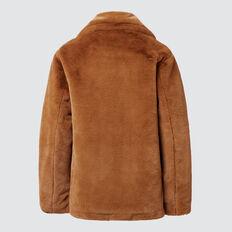 Faux Fur Coat  TOBACCO  hi-res