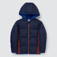 Spliced Puffa Jacket  MULTI  hi-res