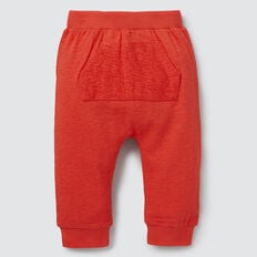 Slub Pocket Trackie  FIRE ENGINE RED  hi-res