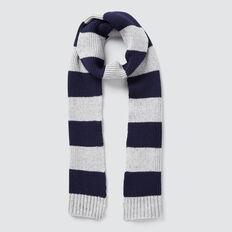 Stripe Knit Scarf  GREY SPECKLE MARLE  hi-res