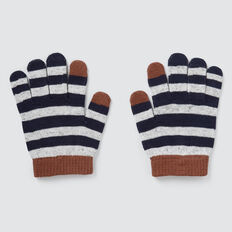 Stripe Gloves  GREY SPECKLE MARLE  hi-res