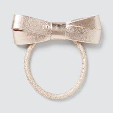 Metallic Bow Elastic  ROSE GOLD  hi-res