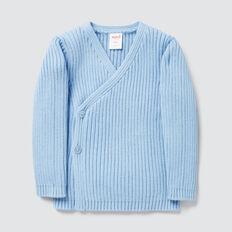 Rib Knit Wrap Cardigan  DUSK BLUE  hi-res
