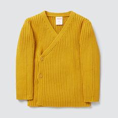 Rib Knit Wrap Cardigan  GOLDEN MUSTARD  hi-res