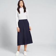 Flowing Midi Skirt  NAUTICAL BLUE  hi-res