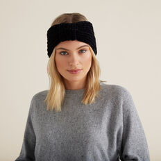Knitted Turban  BLACK  hi-res