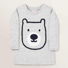 Long Sleeve Bear Rugby Tee  CLOUDY MARLE  hi-res