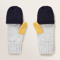 Colour Block Mitten Gloves  MULTI  hi-res