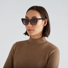 Hilary Cat Eye Sunglasses  TORT  hi-res