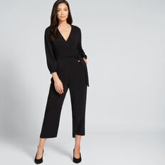 Tie Up Jumpsuit  BLACK  hi-res