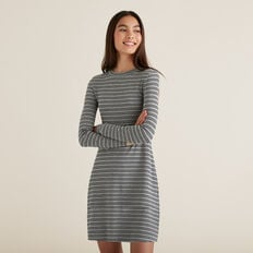 Stripe Dress  GRANITE STRIPE  hi-res