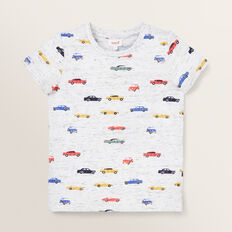Car Yardage Tee  VINTAGE WHITE MARLE  hi-res