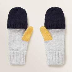 Colour Block Mitten Gloves  MULTI  hi-res