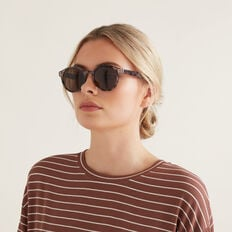 Charlotte Round Sunglasses  LIGHT TORT  hi-res