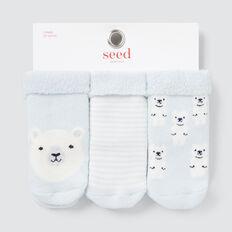 Terry Bear Socks  BLUE  hi-res