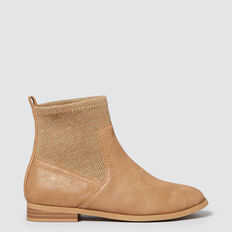 Metallic Knit Boot  TAN  hi-res