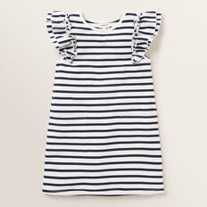 Stripe Pocket Dress  NAVY  hi-res
