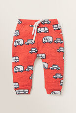 Caravan Trackpant  FIRE ENGINE RED  hi-res