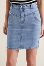 Stitch Denim Skirt  CLASSIC DENIM  hi-res