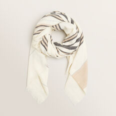 Square Stripe Scarf  MULTI  hi-res