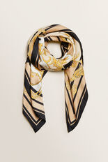 Rope Square Scarf  NEUTRAL BEIGE  hi-res
