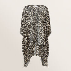 Summer Poncho  BLACK/NATURAL  hi-res