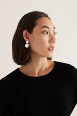 Coin Drop Earring  SILVER  hi-res