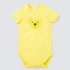 Crochet Bear Bodysuit  LEMON YELLOW  hi-res