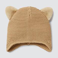 Fluffy Ears Beanie  OAT  hi-res