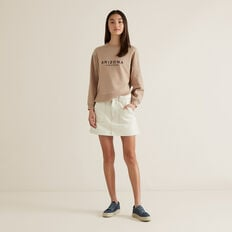Pocket Denim Skirt  OYSTER  hi-res