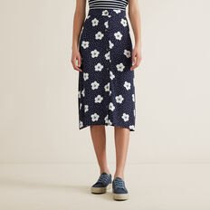 Floral Midi Skirt  MIDNIGHT  hi-res