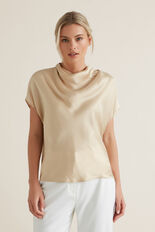 Funnel Neck Top  QUICKSAND  hi-res
