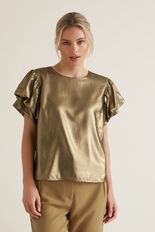 Gold Lame Top  GOLD  hi-res