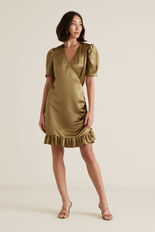 Wrap Over Dress  HONEY BROWN  hi-res