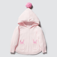 Bunny Poncho  ICE PINK  hi-res