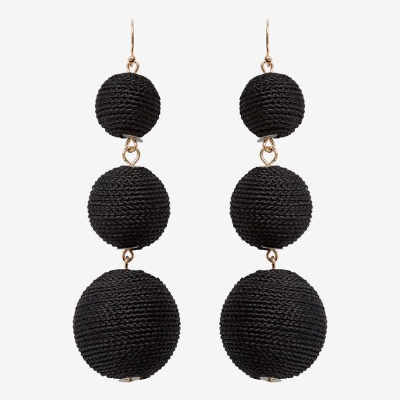 Bauble Earrings  BLACK/GOLD  hi-res