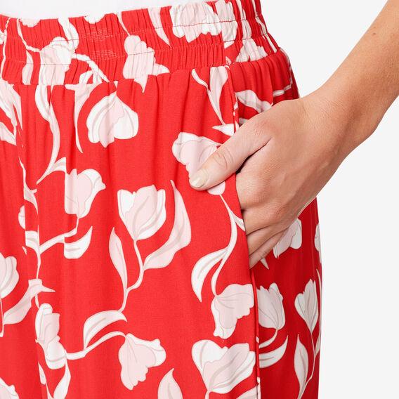 Printed Drape Pant  ROYAL RED FLORAL  hi-res