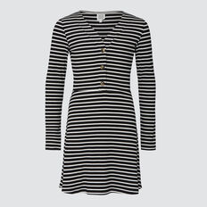 Rib Dress  BLACK/CANVAS  hi-res