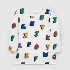 Alphabet Tee  VINTAGE WHITE  hi-res