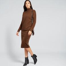 High Neck Comfy Sweater  BURNT TOFFEE  hi-res