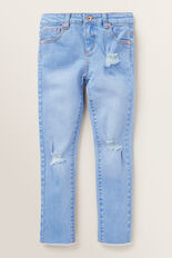 Distressed Jeans  FADED BLUE  hi-res