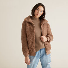 Teddy Jacket  WALNUT  hi-res