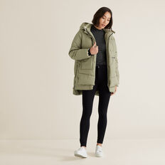 Fleece Puffer Jacket  WASHED OLIVE  hi-res
