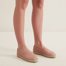 Frida Leather Espadrille  ROSE BLUSH  hi-res