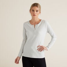 Henley Long Sleeve Top  ICY MARLE  hi-res
