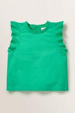 Frill Sleeve Top  APPLE GREEN  hi-res