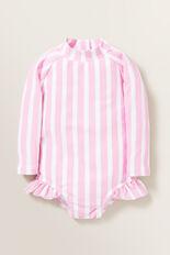 Stripe Rashsuit  FAIRY FLOSS/WHITE  hi-res