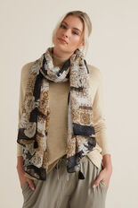 Layered Floral Scarf  QUICKSAND  hi-res