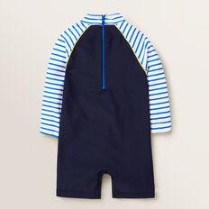 Chest Motif Swimsuit  MIDNIGHT BLUE  hi-res